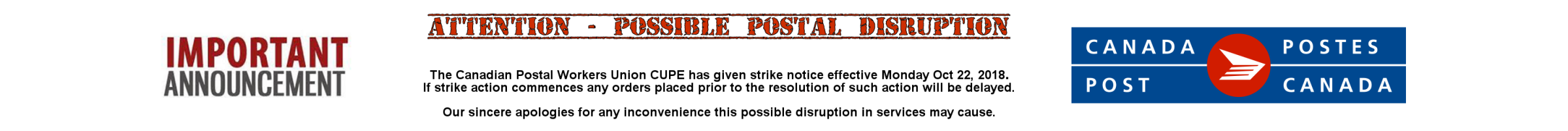 Postal Service Disruption