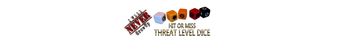 Hit or Miss Threat Level Dice!