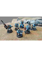 Ultramarine Sniper Scouts with Sgt Telion (Used - Painted)
